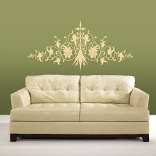 flower swirl wall decal sticker lounge living room bedroom hall cream flower swirl wall sticker on a sitting room wall