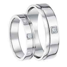 wedding bands his and hers wedding ideas wedding ideas his hers 56mm 9ct white gold diamond