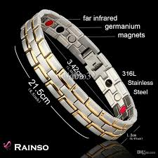 magnetic bracelet stainless images Wholesale healing magnetic bracelet men woman 316l stainless steel jpg
