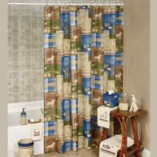 Cabin Shower Curtains Bathroom Burlap Ruffle Shower Curtain White Cotton Handmade