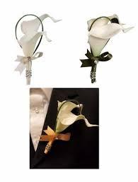 calla boutonniere colorful artificial flower wedding bouquet corsage calla