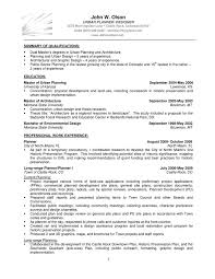 Architecture Intern Resume Sample by Urban Planning Resume Sample Contegri Com