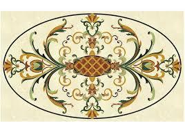 chatelaine waterjet cut marble floor medallion square medallion