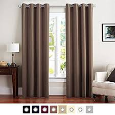Curtains For Brown Living Room Blackout Room Darkening Curtains Window Panel Drapes