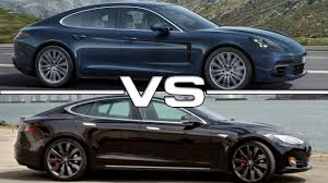 electric porsche panamera 2017 porsche panamera vs 2017 tesla model s p90d youtube