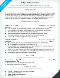 babysitting resume template this is resume for babysitting articlesites info