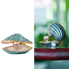 classic fish ring holder images H d metal glass trinket box ring holder small seashell jpg