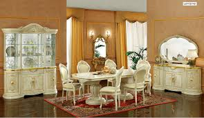 Italian Dining Room Furniture by Leonardo Dining Room Set In Ivory Lacquer Finish By Camelgroup
