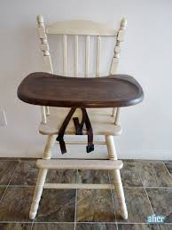 antique wooden high chair with tray antique furniture