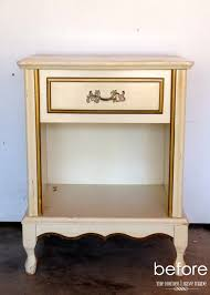 furniture appealing gold nightstand with storage and white wall