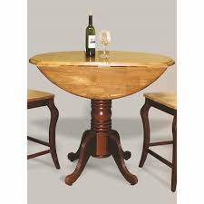 light oak pub table trading round drop leaf pub table in nutmeg with light oak finish