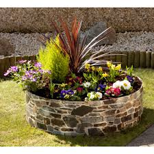 rockery style flower bed ring garden plants vegetables w