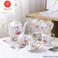 Coffee Set fashion flamingo bone china coffee set porcelain tea set trending