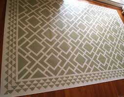 Rug Under Dining Room Table by Diy Dining Room Area Rug Painted Linoleum Reality Daydream
