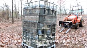 Plastic Deer Blinds Hunting Blind Made From Ibc Containers Youtube