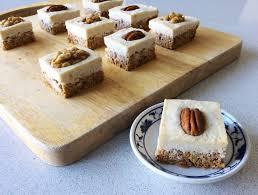 raw carrot cake squares