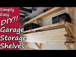 Wooden Storage Shelves Diy by Diy Garage Storage Shelves Youtube