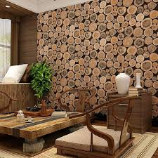 thick 3d wood log texture embossed pvc waterproof wall paper