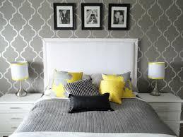 schlafzimmer grau wohnideen schlafzimmer tapete muster grau weißes bettkopfteil