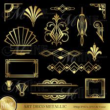 art deco design art deco gold metallic style design elements by mninedesigns