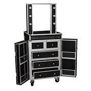 makeup station with lights amazon com dual sided studio makeup station w lights mirror