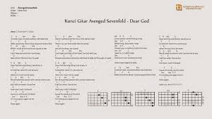 tutorial gitar dear god kunci gitar dear god lagu avenged sevenfold belajar kunci gitar