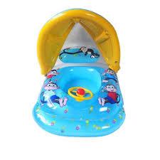bouee siege bebe bouée siège bébé gonflable bleu piscine avec banne soleil pour
