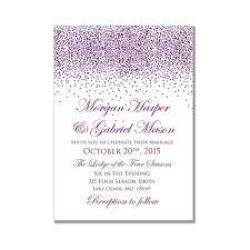 purple wedding invitations printable wedding invitation purple wedding purple sparkles