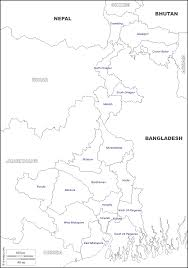 Blank Map Of India by Geography Blog Maps Of West Bengal India