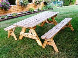 Commercial Picnic Tables And Benches Picnic Table With Benches Outdoor Patio Tables Ideas