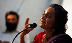 india writer arundhati roy joins intolerance fight