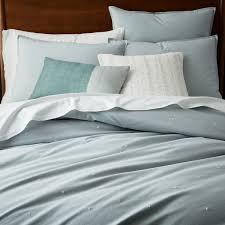 organic washed cotton duvet cover pillowcases dusty mint
