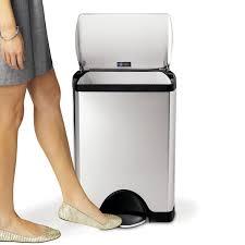 poubelle de cuisine a pedale avis sur la poubelle à pédale 30l simplehuman en inox brossé anti