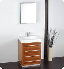 24 Vanities For Small Bathrooms by 24 Inch Teak Modern Bathroom Vanity With Medicine Cabinet