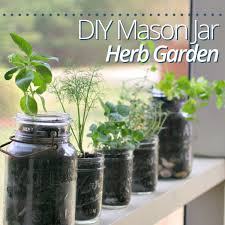 Diy Herb Garden Diy Mason Jar Herb Garden