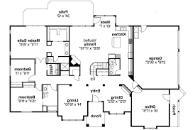 53 4 bedroom house plans porch bedroom ranch house left view