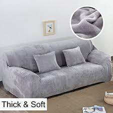 housse pour canapé housse de canapé épaisse et élastique en velours uni pour canapé 1