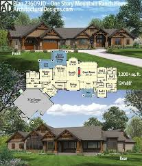 One Story Ranch Style House Plans 195 Best House Floorplans Images On Pinterest Front Elevation