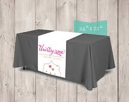 Trade Show Table Runner Trade Show Banner Etsy