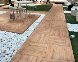 wood tiling u2013 wooden floor on the balcony interior design ideas