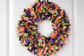 fabric halloween wreath rag tie wreath halloween decorations