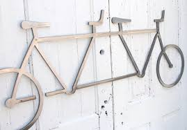 tandem bicycle art etsy bicycle wall art decor tandem bike hanging industrial steel cyclist gift