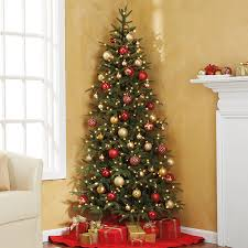 pre lit fraser fir corner tree at brookstone buy now