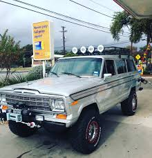 lowered jeep wagoneer great with jeep improved version mustang pinterest