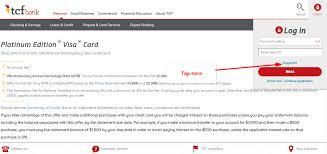 tcf bank platinum edition visa card online login cc bank