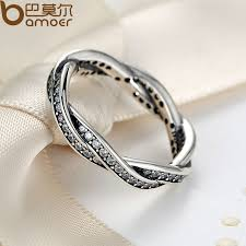 braided ring 925 sterling silver braided pave silver ring with clear cz