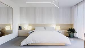 grand miroir chambre chambre avec parement mural en bois tête de lit en bois