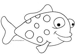 printable 25 simple fish coloring pages 5071 simple fish