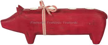 maileg advent wooden pig red