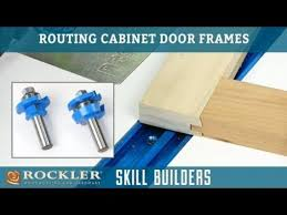 how to make simple shaker cabinet doors rockler 2 pc rail stile shaker cutter router bit set 1 2 shank